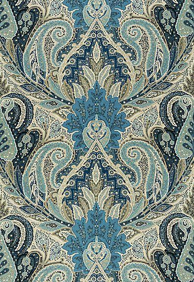 Cambay Paisley Print Schumacher Fabric