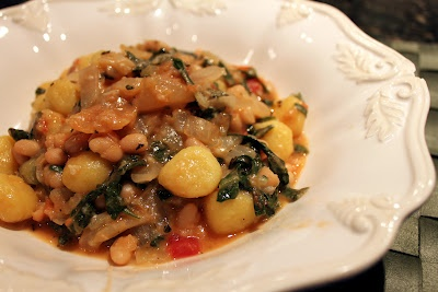 Skillet Gnocchi With Chard & White Beans Recipe — Dishmaps