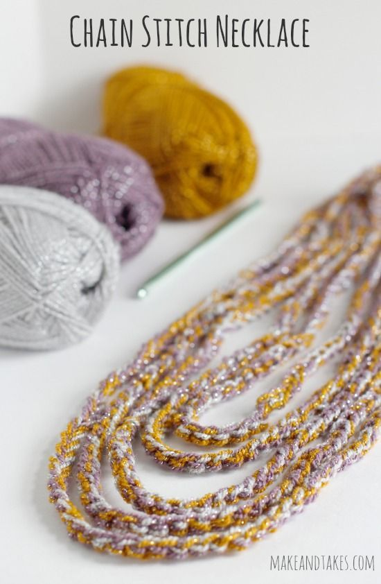 Crochet Stitches Chain : Crocheting a Chain Stitch Necklace @Linda Norris Rasowsky and Takes ...