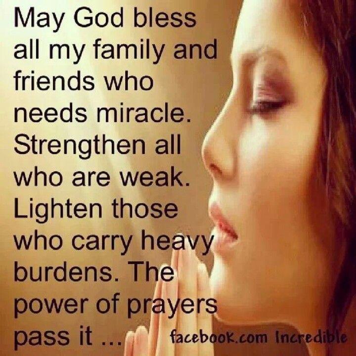 Prayer for family strength power of prayer Pinterest