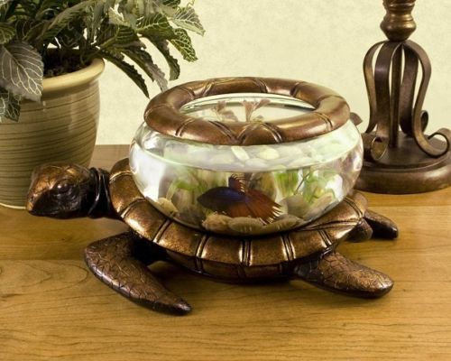 Aquarium Tank Turtle Pet Fish Glass Bowl Goldfish Child Living Room ...