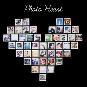 It's time to do something with those Instagram photos! Find out how to make this photo heart display.