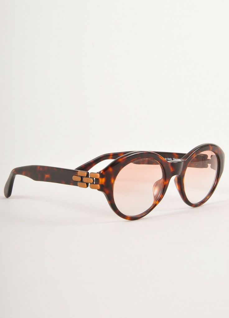 Eyeglass Frames On Consignment : Brown Tortoise Shell Round Glasses