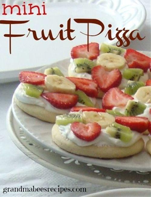 Mini Fruit Pizzas | Foods | Pinterest