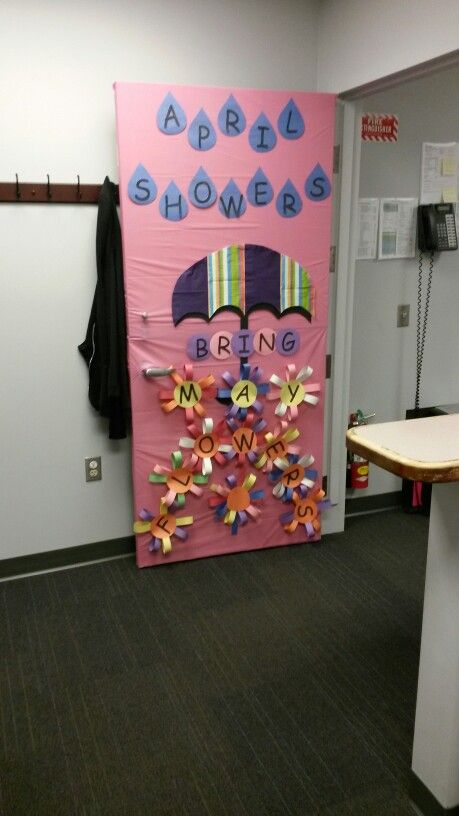 Classroom Decorations For April ~ Flower bulletin boards may flowers and april showers on