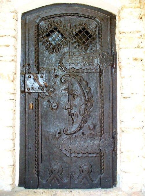 Interesting etched door.