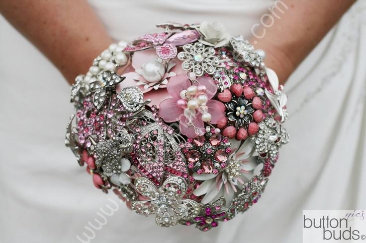 Button Bridal Bouquet Etsy : Wedding button bouquet i do
