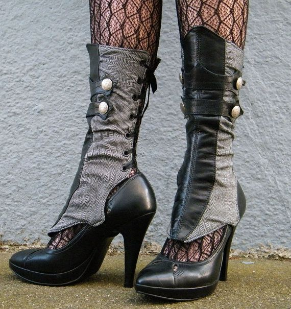 sleek spats. ooooohhhhhh.