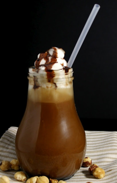 Iced Hazelnut Coffee Coolers Recipe — Dishmaps