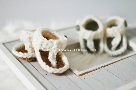 Newborn Shoes Newborn Photo Prop Crochet by CastAwayCollection, $25.00