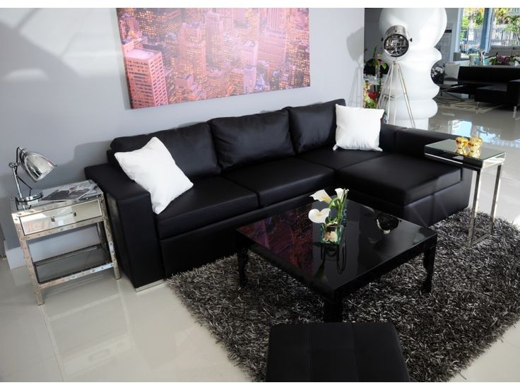 modern sectional black leather sofa living room ideas pinterest