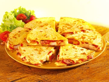 Toasted chicken and cheese quesadillas   food & drink.   Pinterest