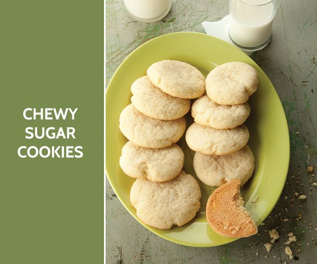 Chewy sugar cookies | Dessert!! | Pinterest