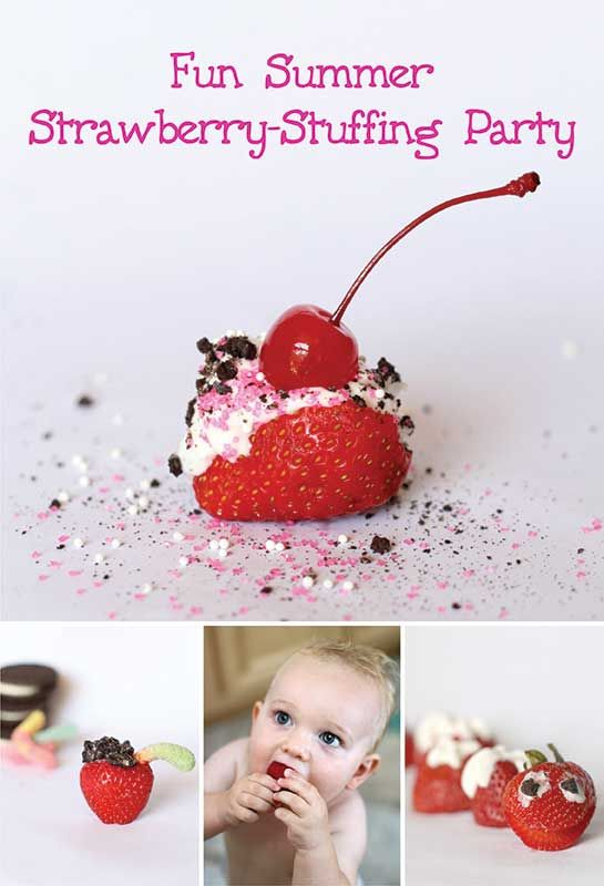 Stuffed Strawberries -- would be fun for a party!  via @castrawberries #StrawberrySelfie #spon