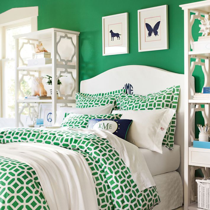 Peyton Duvet Cover Sham Kelly Green