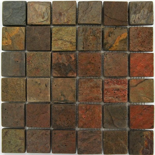Copper Mosaic Slate Tile Home Projects Pinterest