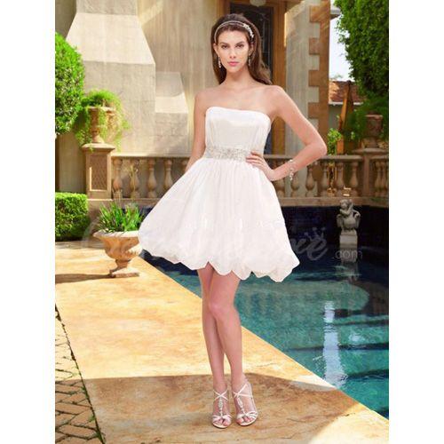 Short white dress for reception someday