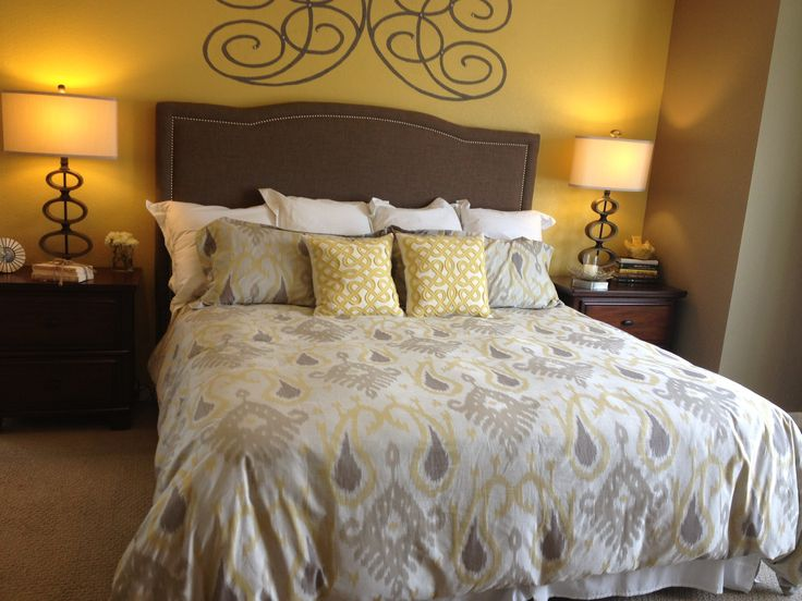 gray and yellow bedroom master suite ideas and color palettes pin