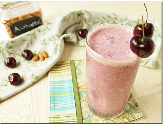 Summer smoothie recipes: Cherry Almond Vanilla (from Running to the Kitchen)
