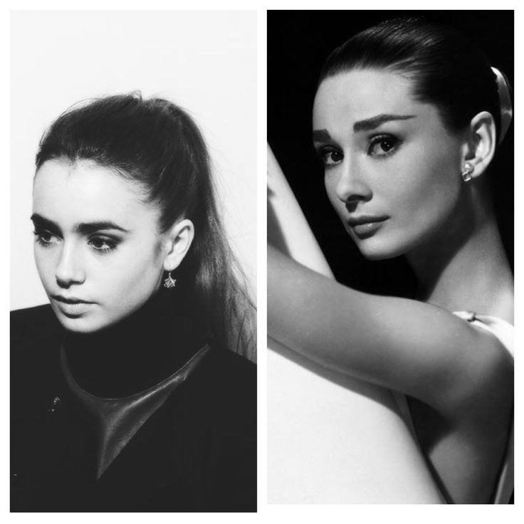 Audrey Hepburn and Lily Collins   They look related Lily Collins Audrey Hepburn