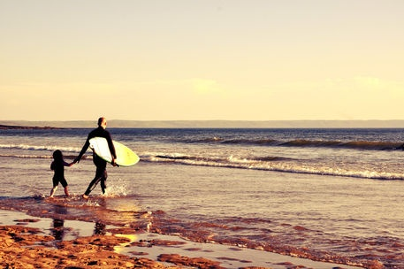 'Father and Son surfing' by alexia miles on artflakes.com as poster or art print $16.63