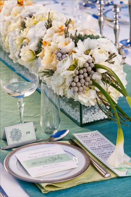 Summer Inspired Tablescape Table Top Table Cloth