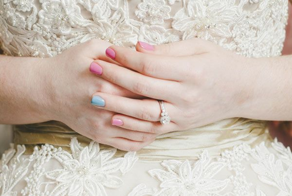 "Paint your ring fingernail for your ""something blue"""