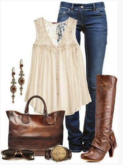 Brown Spring Outfit,pink la