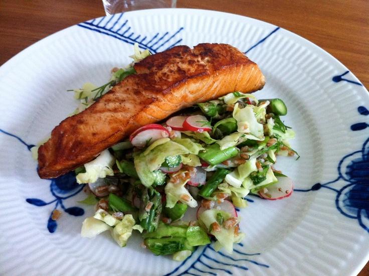 Salmon With Cucumber-Radish Relish Recipes — Dishmaps
