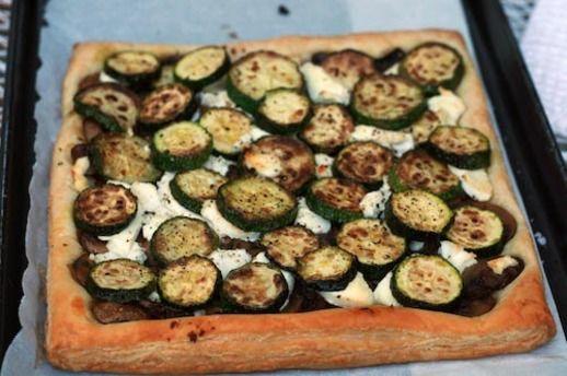 Dinner Tonight: Zucchini, Mushroom, and Goat Cheese Tart | Recipe