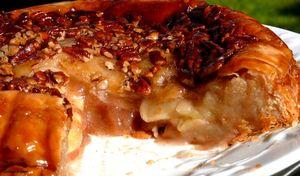 Upside down Apple Pecan Pie   Desserts//Pies and Cobblers   Pinterest