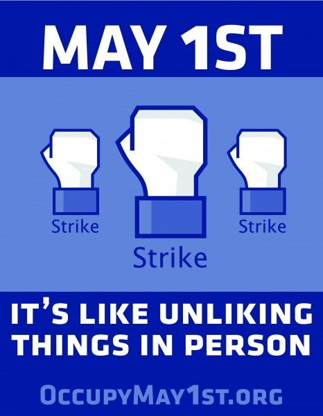 It's Like Unliking Things in Person. #M1GS May 1st General Strike