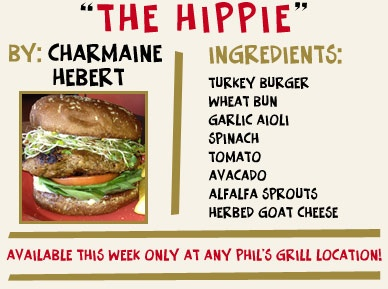 Try out this Turkey Burger with garlic aioli, spinach, tomato, avocado ...