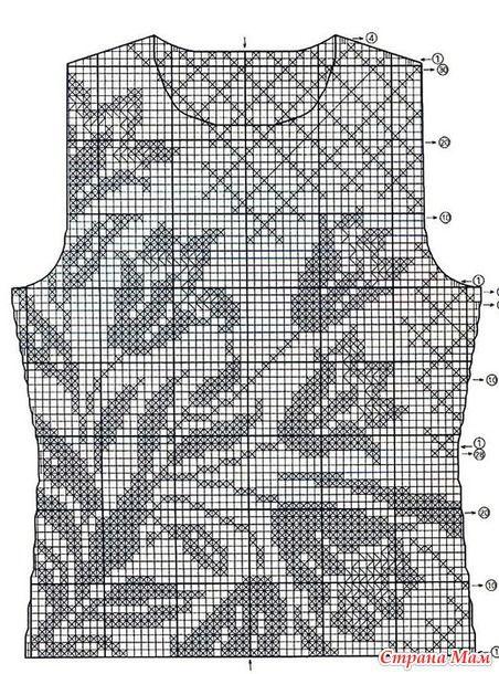 Филейное вязание летних кофточек