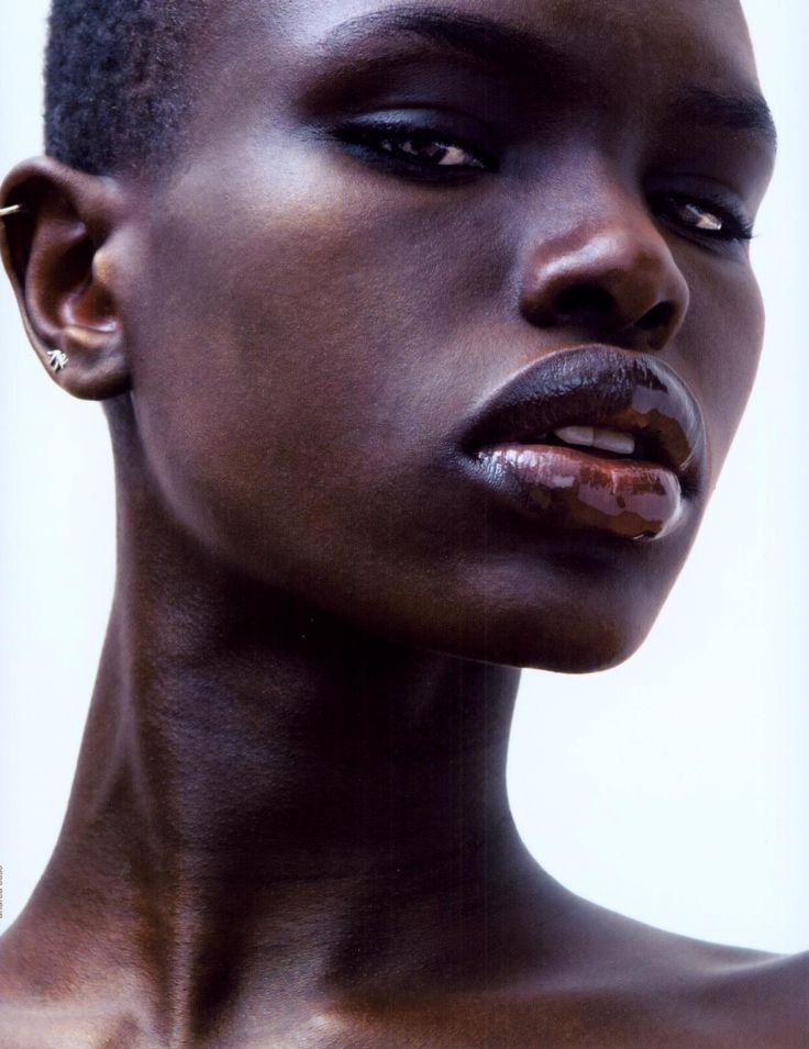 very dark skin women