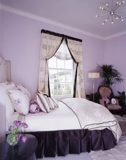 luxurious bedroom in rich purple tones home pinterest
