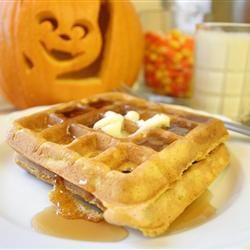 Pumpkin Waffles with Apple Cider Syrup | Yummy! | Pinterest