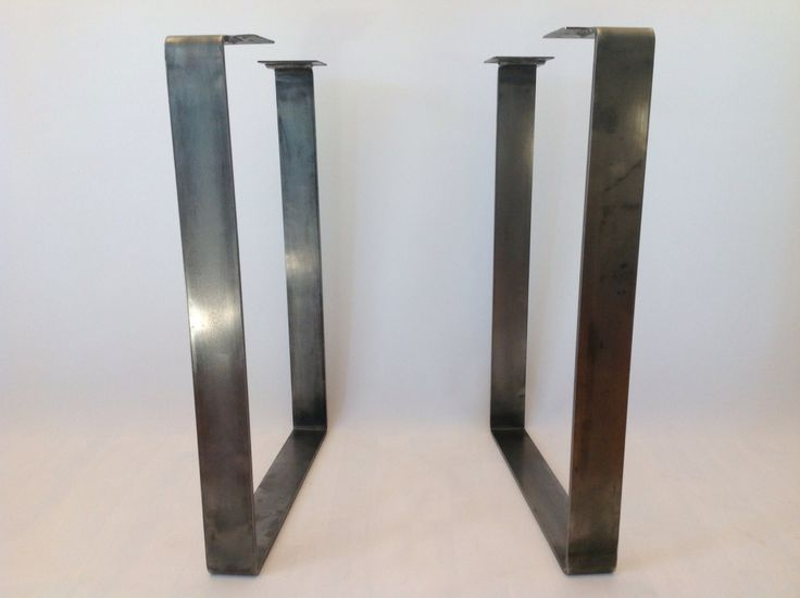 28 x 20 Table Legs Flat Steel Leg Height 26 To