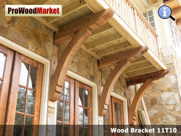 Wood Bracket Front Porch Western Red Cedar Pinterest