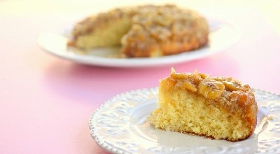 BANANA COCONUT UPSIDE DOWN CAKE | food and drink | Pinterest