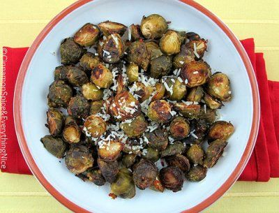 Lemon Parmesan Roasted Brussels Sprouts by Cinnamon Spice and ...