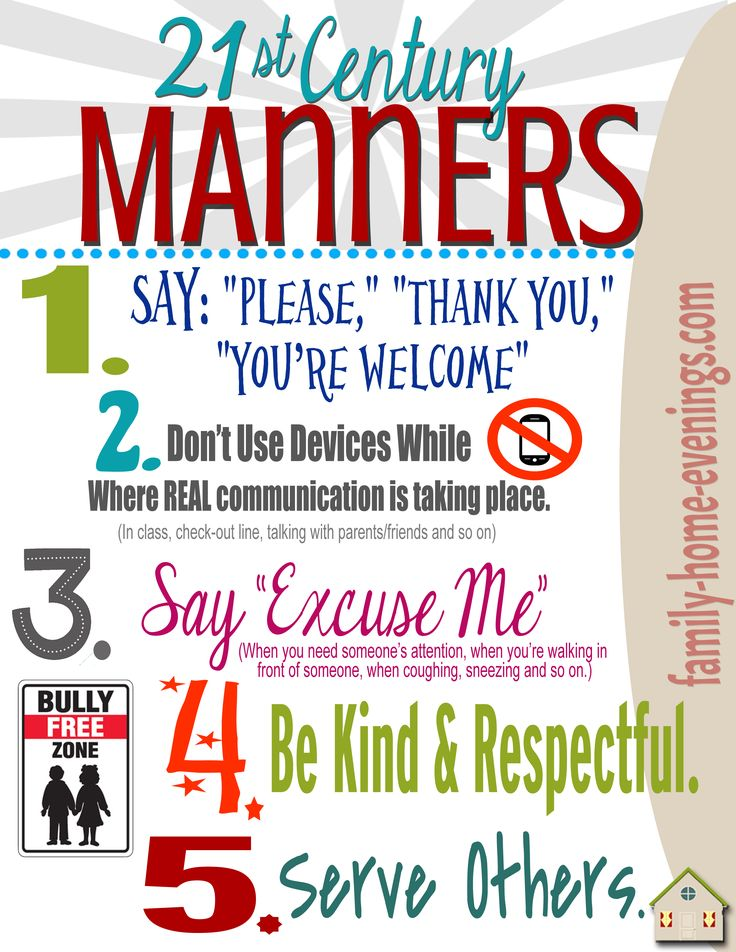 Teach kids/teens basic manners with this fun, interactive lesson and ...