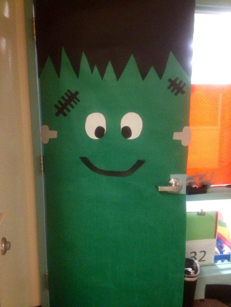 Halloween door decorations mummy - Frankenstein Door Decoration Frankenstein Door Decoration