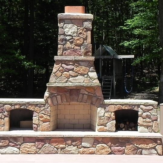 FireRock Outdoor Fireplace Kit Outdoor Fireplace Pinterest