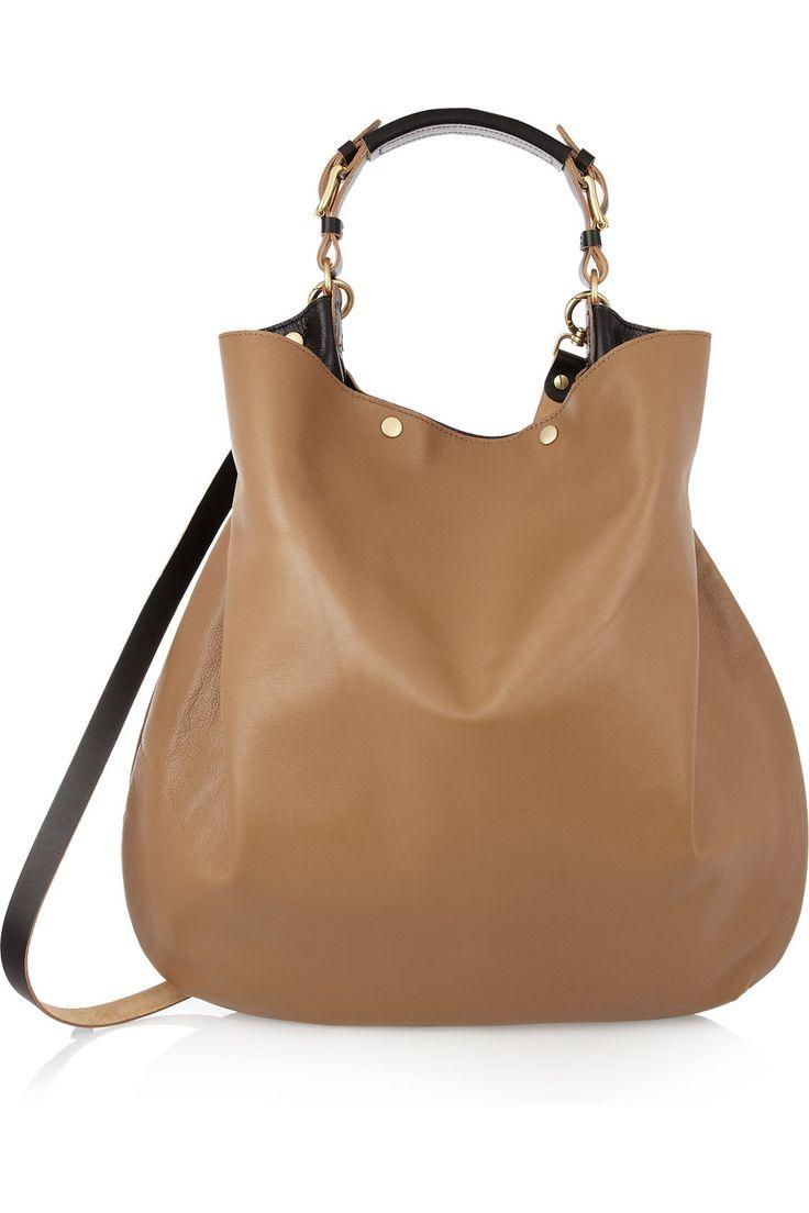 Marni|Leather hobo bag
