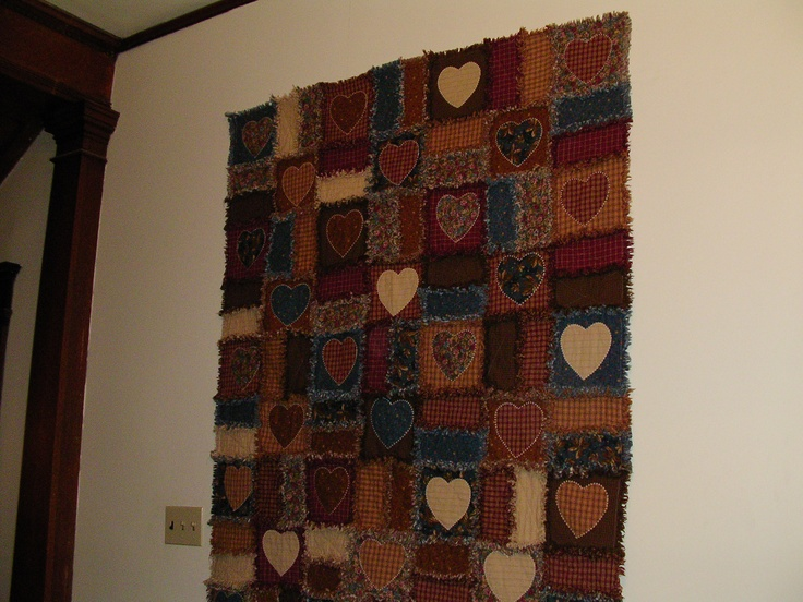 One of the first quilts my mother made- I loved the pattern and colors for IL winter!