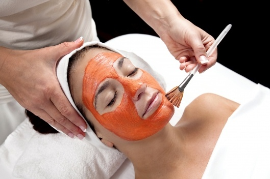 DIY pumpkin facial.