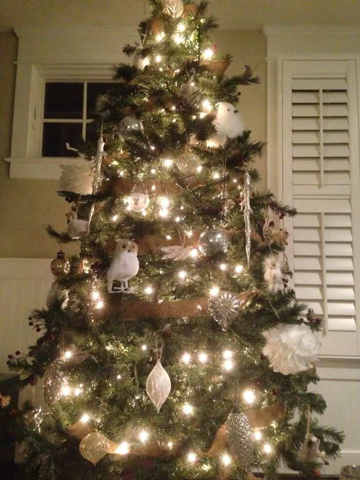 Christmas Tree Decoration Owl : White owl christmas tree is comin