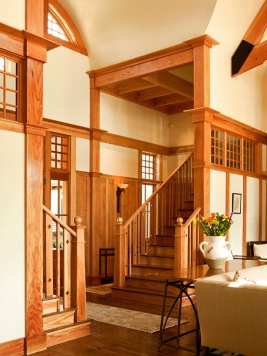 arts and crafts door and window trim craftsman style