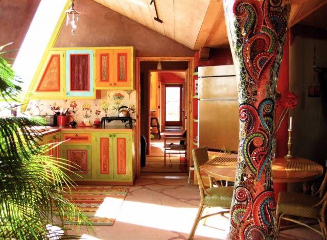 taos new mexico green home kitchen delightful decor
